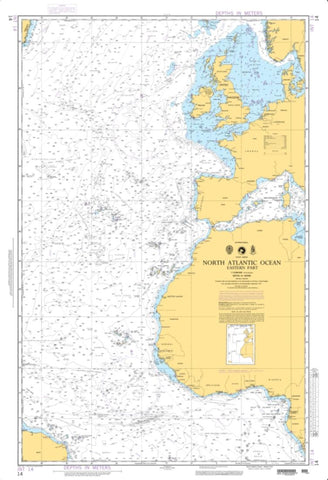Buy map North Atlantic Ocean - Eastern Portion (NGA-14-4) by National Geospatial-Intelligence Agency