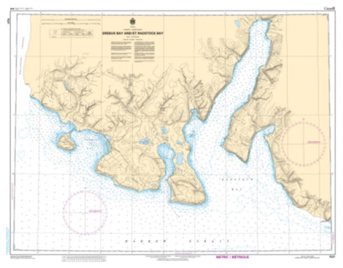 Buy map Erebus Bay and/et Radstock Bay by Canadian Hydrographic Service