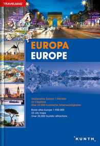 Buy map Europe, Road Atlas Travelmag (German/English ed) by Kunth Verlag