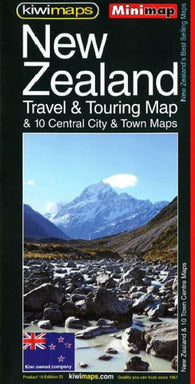 Buy map New Zealand, Touring and 10 Towns, Minimap by Kiwi Maps