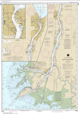 Buy map St. Clair River; Head of St. Clair River (14852-46) by NOAA