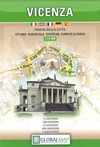 Buy map Vicenza, Italy by Litografia Artistica Cartografica