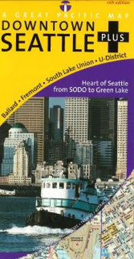 Buy map Seattle, Downtown, Washington by Great Pacific Recreation & Travel Maps