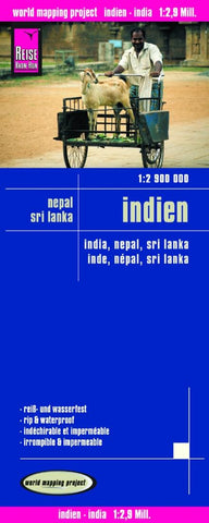 Buy map India, Nepal, and Sri Lanka by Reise Know-How Verlag