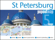 Buy map St Petersburg, Russia, PopOut Map by PopOut Products
