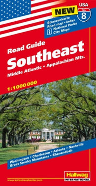 Buy map USA 8: Southeast, Mid-Atlantic and Appalachian Mountains by Hallwag
