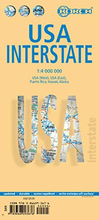Buy map United States, Interstates by Borch GmbH.