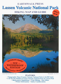 Buy map Lassen Volcanic National Park, California, waterproof by Earthwalk Press