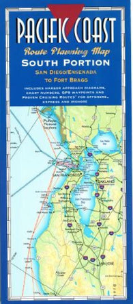 Buy map Pacific Coast, South, Fort Bragg to San Diego by Fine Edge