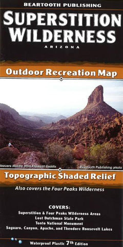 Buy map Superstition Wilderness, Arizona by Beartooth Publishing