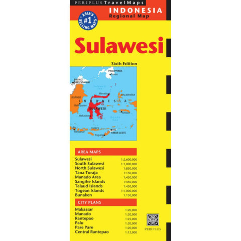 Buy map Sulawesi, Indonesia by Periplus Editions