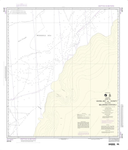 Buy map Vashel Bay And Vicinity Inlcuding Belgrano Station Ii (NGA-29742-1) by National Geospatial-Intelligence Agency