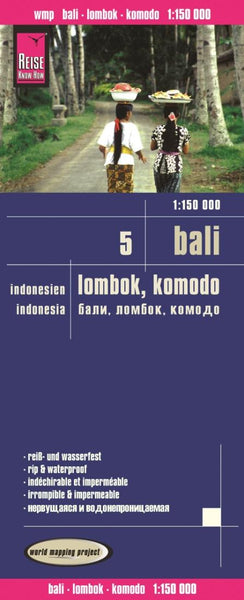 Buy map Bali, Lombok and Komodo, Indonesia (Map 5) by Reise Know-How Verlag