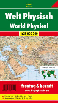 Buy map World, Physical by Freytag-Berndt und Artaria