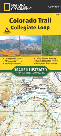 Buy map Colorado Trail Collegiate Loop (Map 1203) by National Geographic Maps