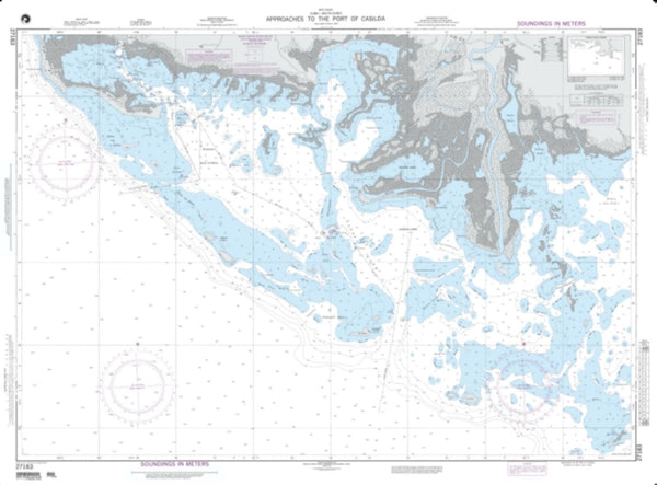 Buy map Approaches To The Port Of Casilda (NGA-27183-8) by National Geospatial-Intelligence Agency