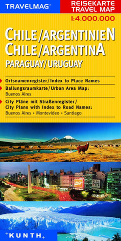 Buy map Chile, Argentina, Paraguay, and Uruguay by Kunth Verlag