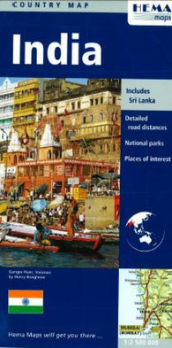 Buy map India by Hema Maps