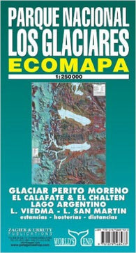 Buy map Los Glaciares National Park, Patagonia by Zagier y Urruty