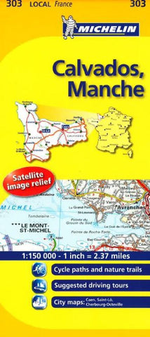 Buy map Calvados, Manche (303) by Michelin Maps and Guides