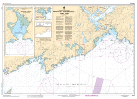 Buy map Approaches to/Approches a Saint John by Canadian Hydrographic Service