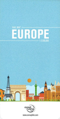 Buy map Europe Rail and Ferry Routes Map by East View Press