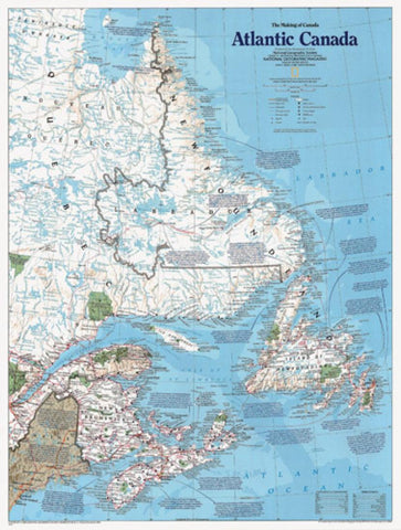 Buy map Atlantic Canada, The Making of, Tubed by National Geographic Maps