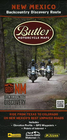 Buy map New Mexico Backcountry Discovery Route by Butler Motorcycle Maps