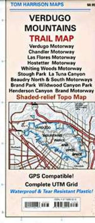 Buy map Verdugo Mountains, California by Tom Harrison Maps