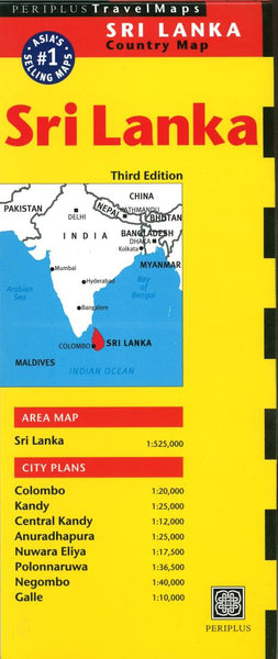Buy map Sri Lanka Country Map by Periplus Editions