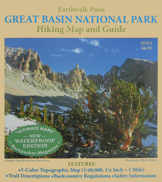 Buy map Great Basin National Park, Nevada, waterproof by Earthwalk Press