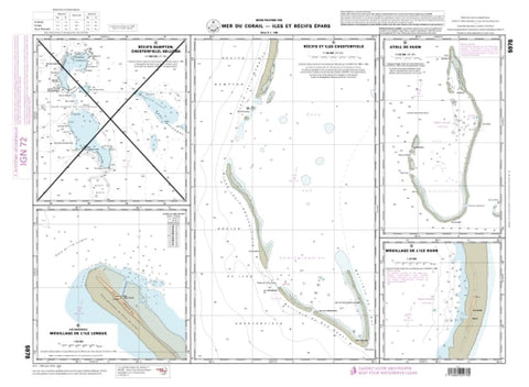Buy map Atoll de Huon by SHOM