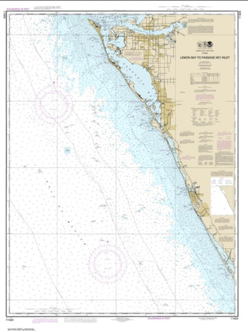 Buy map Lemon Bay to Passage Key Inlet (11424-20) by NOAA
