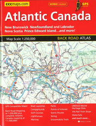 Buy map Atlantic Canada Back Road Atlas by Canadian Cartographics Corporation