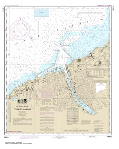 Buy map Oswego Harbor (14813-22) by NOAA