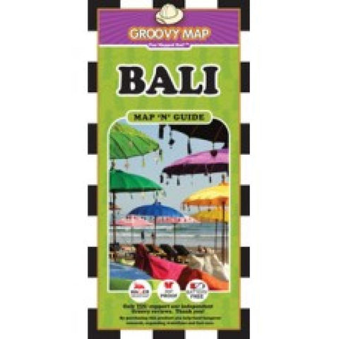 Buy map Bali, Indonesia, Map n Guide by Groovy Map Co.