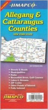 Buy map Allegany and Cattaraugus Counties, New York by Jimapco