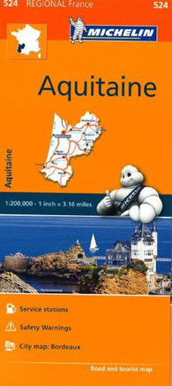 Buy map Aquitaine (524) by Michelin Maps and Guides