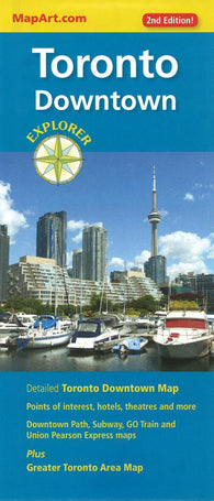 Buy map Toronto Downtown Explorer Map by Canadian Cartographics Corporation