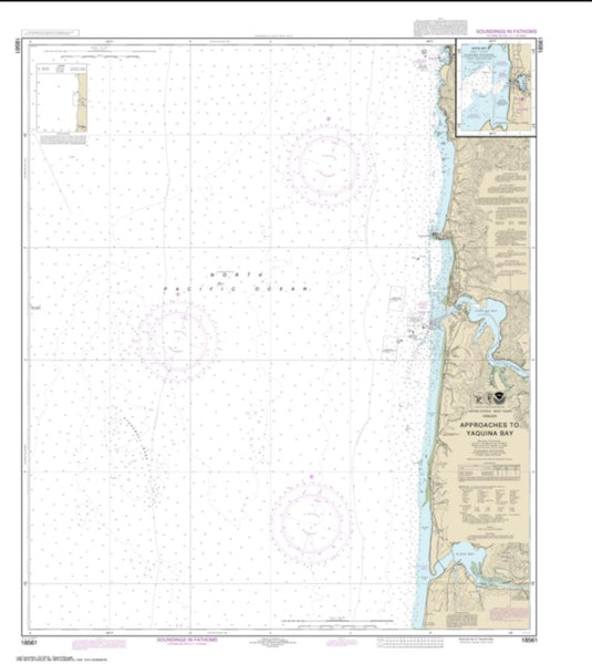 Buy map Approaches to Yaquina Bay; Depoe Bay (18561-13) by NOAA
