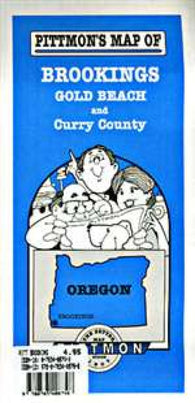 Buy map Brookings, Gold Beach and Curry County, Oregon by Pittmon Map Company