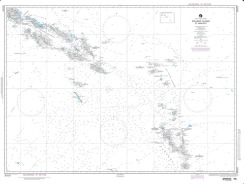 Buy map Solomon Islands To Vanuatu (New Hebrides) (NGA-82020-7) by National Geospatial-Intelligence Agency