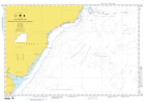 Buy map Southeast Coast Of South America (NGA-201-2) by National Geospatial-Intelligence Agency