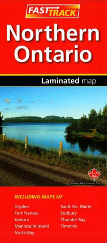 Buy map Northern Ontario, Fast Track laminated map by Canadian Cartographics Corporation