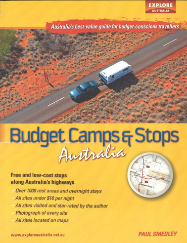 Buy map Budget Camps & Stops, Australia by Universal Publishers Pty Ltd