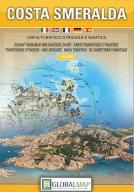 Buy map Emerald Coast, Italy by Litografia Artistica Cartografica