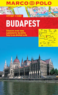 Buy map Budapest, Hungary by Marco Polo Travel Publishing Ltd