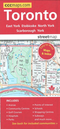 Buy map Toronto, Ontario Easy to Read Street Map by Canadian Cartographics Corporation