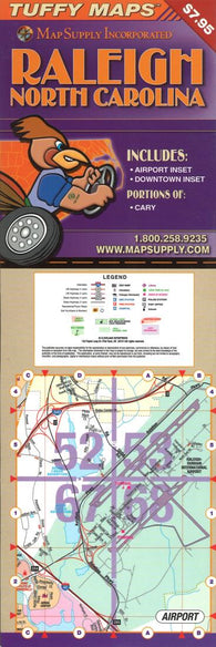 Buy map Raleigh, North Carolina Laminated Tuffy Map by Tuffy Maps