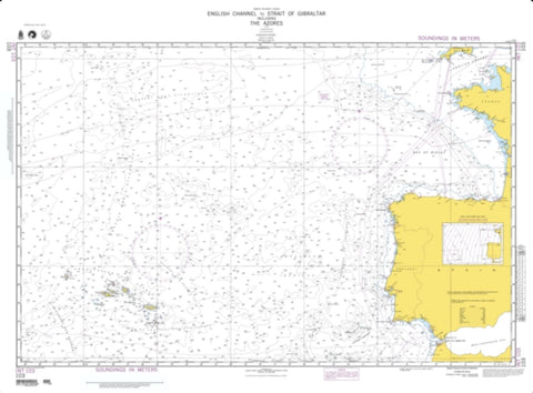 Buy map English Channel To The Strait Of Gibraltar (NGA-103-5) by National Geospatial-Intelligence Agency
